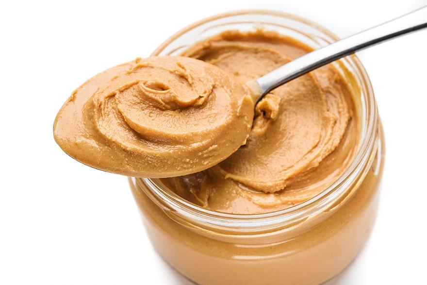 Fresh peanut butter in jar